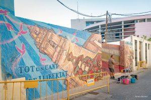 El Mural del Carrer Berca en marxa