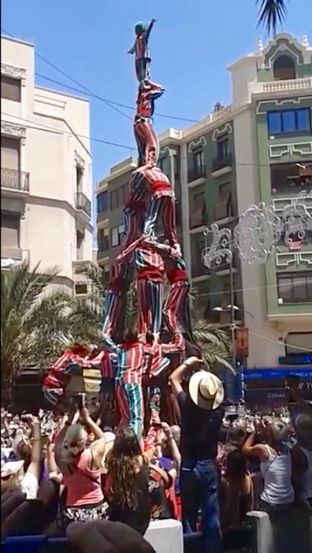 La Sisena de la Nova Muixeranga d'Algemesí a Alacant